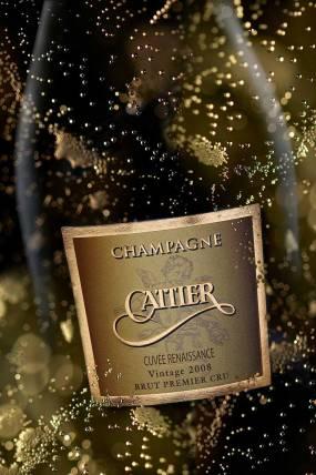 Bouteille des champagne Cattier Renaissance