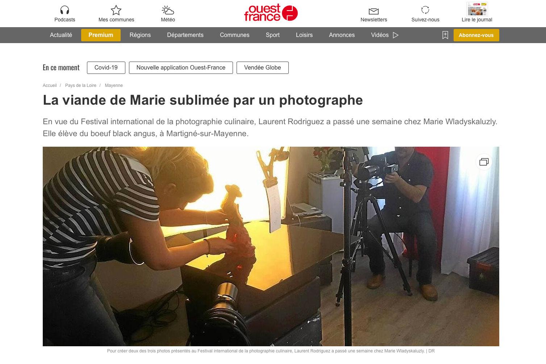 Ouest France parle du Studio photos Laurent Rodriguez Paris et Reims
