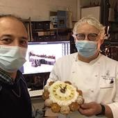 Shooting 2020 de la Bûche Millésime XVIII du chef pâtissier Vincent Dallet @maximedallet  Que du bonheur🙏🏼🙂👌🏼